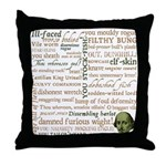 Shakespeare Insults T-shirts & Gifts Throw Pillow