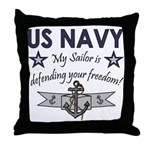 NAVY Sailor defending freedom Throw Pillow