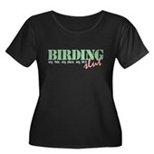 Birding Slut Women's Plus Size Scoop Neck Dark T-S