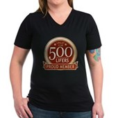Lifelist Club - 500 Women's V-Neck Dark T-Shirt