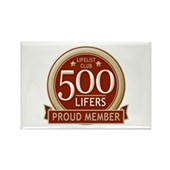 Lifelist Club - 500 Rectangle Magnet