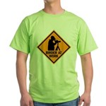 Birder at Work Green T-Shirt