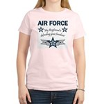 Air Force Boyfriend freedom Women's Pink T-Shirt