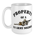 Property US Army Soldier Military Large Mug