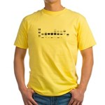 Yellow T-Shirt : Sizes Small,Medium,Large,X-Large,2X-Large  Available colors: Yellow