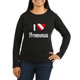 Scuba: I Love Honduras Women's Long Sleeve Dark T-