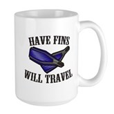 Have Fins Will Travel Large Mug