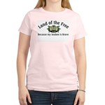 Land of the Free, Seabee Women's Pink T-Shirt
