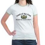 Land of the Free, Coastie Jr. Ringer T-Shirt