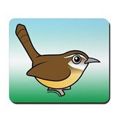 Birdorable Carolina Wren Mousepad
