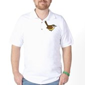 Birdorable Carolina Wren Golf Shirt
