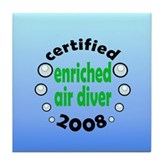 Enriched Air Diver 2008 Tile Coaster