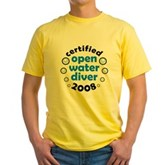 Open Water Diver 2008 Yellow T-Shirt