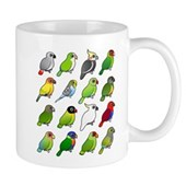16 Birdorable Parrots Mug