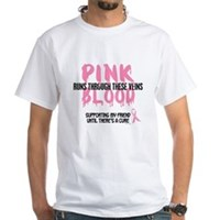 Pink Blood 1 (Friend) White T-Shirt