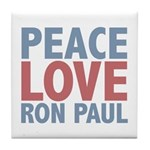 Peace Love Ron Paul Tile Coaster