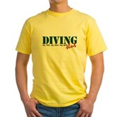 Diving Slut Yellow T-Shirt