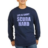 Scuba Hard Long Sleeve Dark T-Shirt