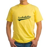 Scubaholic Yellow T-Shirt