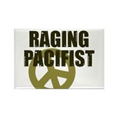 Raging Pacifist Rectangle Magnet