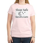 Sleep Safe Sleep with a Coastie Women's Pink T-Shi