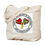 Part of my Heart is Deployed - Military Tote Bag