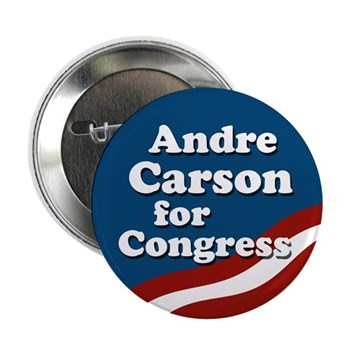 Re-Elect Andre Carson to the U.S. Congress for Indiana (Patriotic Pro-Carson congressional campaign button)