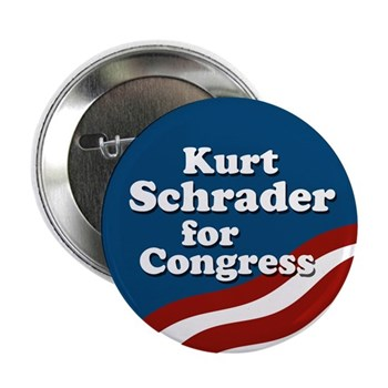 Kurt Schrader Button for the Oregon Schrader re-election campaign