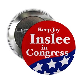 Keep Jay Inslee in Congress (Pro-Inslee congressional campaign button for Washington State)