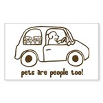 Pets Are People Too Rectangle Sticker