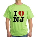 I Love NJ Green T-Shirt
