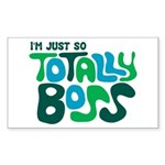 Totally Boss Rectangle Sticker