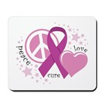 CF Peace Love Cure Mousepad