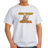 Fist Bump for Obama Light T-Shirt