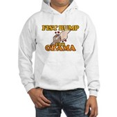 Fist Bump for Obama Hooded Sweatshirt