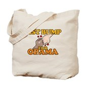 Fist Bump for Obama Tote Bag
