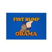 Barack Obama shared a fist pound w/ Michelle at a campaign stop in June '08. Show your support for Obama for President w/ this Fist Bump for Obama design. Just don't call it a closed-fist high-five.