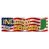 Indiana for Obama Bumper Sticker
