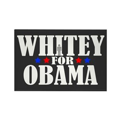 Whitey For Obama Rectangle Magnet