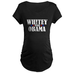 Whitey For Obama Maternity Dark T-Shirt