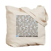 All Presidents up to Obama Tote Bag