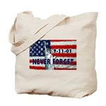 9-11-01 Never Forget Tote Bag