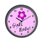 Girls Rule Wall Clock