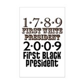 Presidential Firsts: 1789-2009 Mini Poster Print