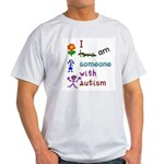 I Am Someone with Autism Ash Grey T-Shirt