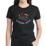 I Heart My Autistic Mind Women's Dark T-Shirt