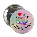 "I Heart My Autistic Mind 2.25"" Button"