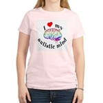 I Heart My Autistic Mind Women's Light T-Shirt