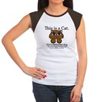 This is a Cat Women's Cap Sleeve T-Shirt