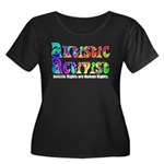 Autistic Activist v1 Women's Plus Size Scoop Neck